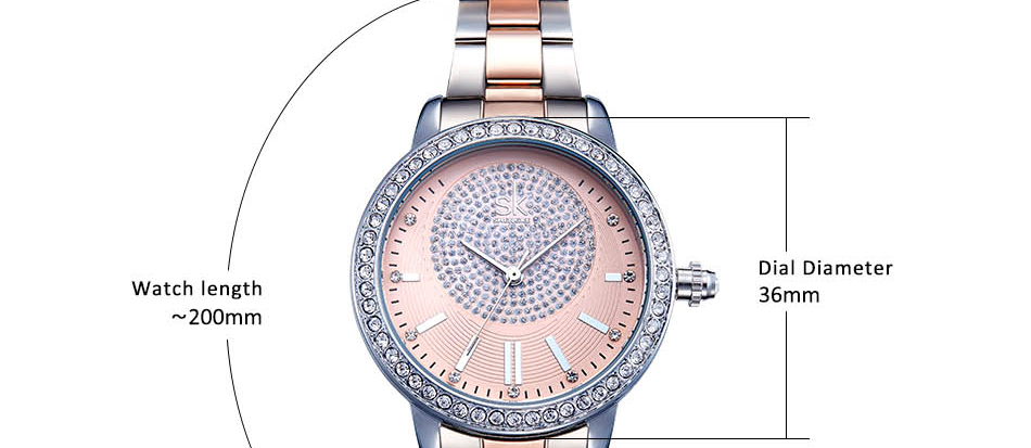 HTB1J3a2ch1YBuNjy1zcq6zNcXXaI Shengke Rose Gold Watch Women Quartz Watches Ladies Brand Crystal Luxury Female Wrist Watch Girl Clock Relogio Feminino