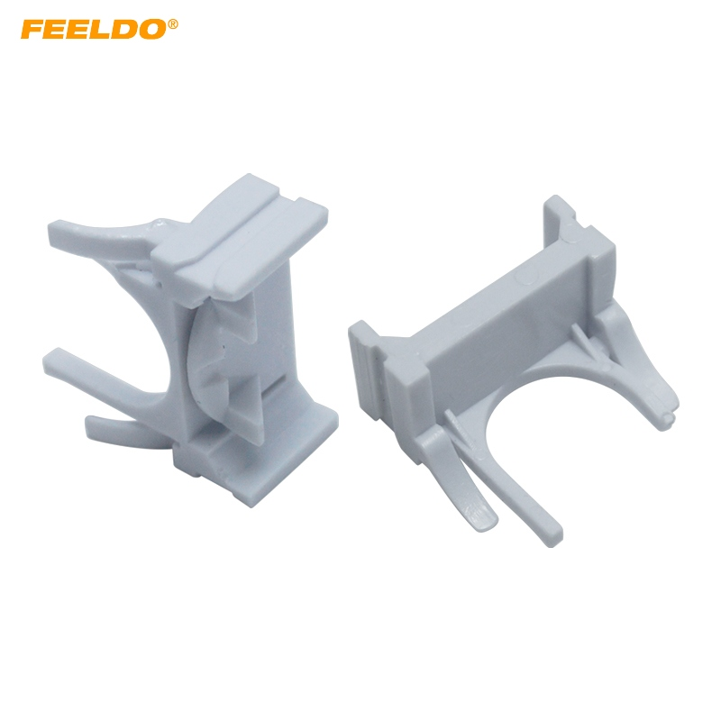 FEELDO 2PCS Auto HID Xenon Bulb Holder Base H7 Low Beam Adapter Sockets For Ford Mondeo Bracket Retainers Base#5550