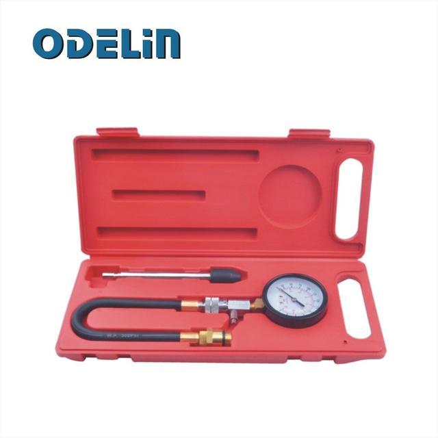 Kit probador de compresión para motores de gasolina 0-300psi/0-2000kpa 14 y 18mm