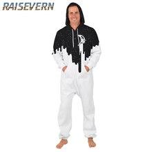 ea3eedd3c5b RAISEVERN New Funny Print Pouring Milk 3D Hoody Sets Fashion Hip Hop Men s  Rompers Zipper Hoodies