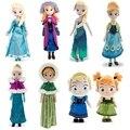 2 Pçs/set Princesa Snow Queen Elsa Anna Stuffed Plush Boneca Brinquedos Para Presentes Dos Miúdos