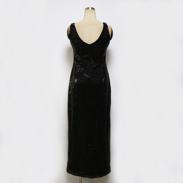 Elegant Maxi Sequin dress with Slit