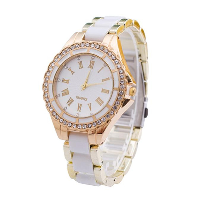 High Quality Gift Fashion Luxury Women Stainless Steel Crystal Dial Band Analog Quartz Wrist Watch Relojes Mujer 2017 Clock watche women stainless steel band ladies crystal diamond quartz watch luxury rose gold wrist watches relojes mujer