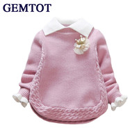GEMTOT Autumn Winter Infant Sweater New Fashion Long Sleeved Cotton Thick Warm Top Coat For 0
