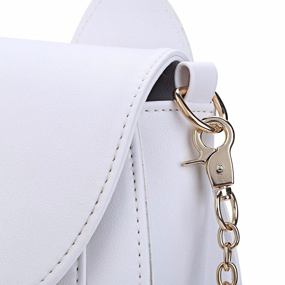 dm prime fênix detalhes da costura bolsa branca
