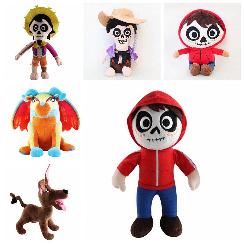 Hot Cartoon Movie Coco Plush Toy 30Cm Miguel Hector Dante Dog Stuffed Dolls Children -1509
