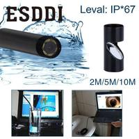 2 5 10M 5MM USB Endoscope Waterproof 6LED Inspection Snake Video Camera Scope Professional Snake Inspection