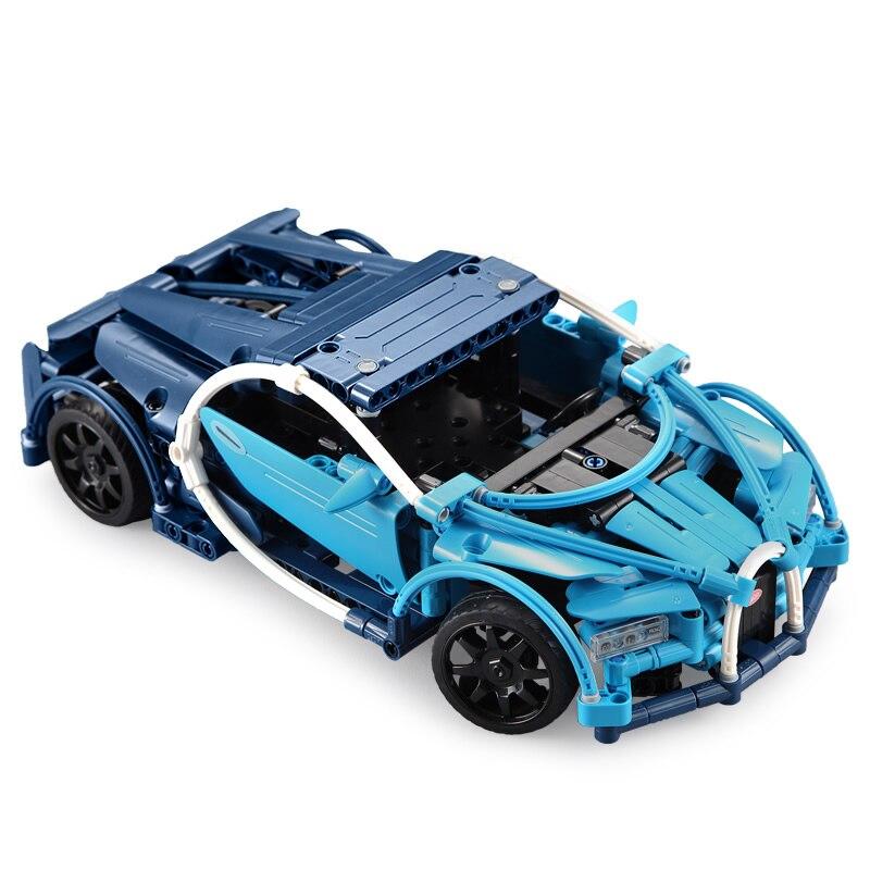 419pcs Serie Technic Super Blu Sport RC Auto Set FAI DA TE Blocchi di Costruzione di Mattoni Modello fit Auto Da Corsa Giocattolo con contenitore di regalo-in Blocchi da Giocattoli e hobby su  Gruppo 3