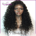 180% density Full Lace Human Hair Wigs thick Kinky Curly Lace Front Human Hair Wigs With Baby Hair full human hair curly Wigs