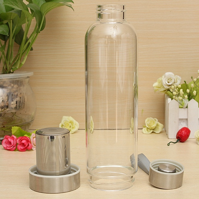 550ml Universal BPA Free High Temperature Resistant Glass Sport Water Bottle With Tea Filter Infuser Bottle Jug Protective Bag 6