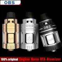 100 Original OBS Engine Nano RTA Atomizer 5 3ml Engine Nano Rebuiltable Tank Atomizer Electronic Cigarette