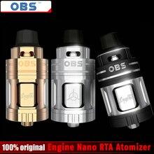 100% Оригинальные obs двигатель nano RTA распылитель 5.3 мл двигатель nano Rebuiltable танк атомайзер электронная сигарета испаритель