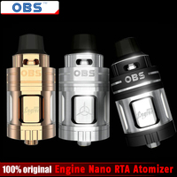 100 Original OBS Engine Nano RTA Atomizer 5 3ml Engine Nano Rebuiltable Tank Atomizer Electronic Cigarette