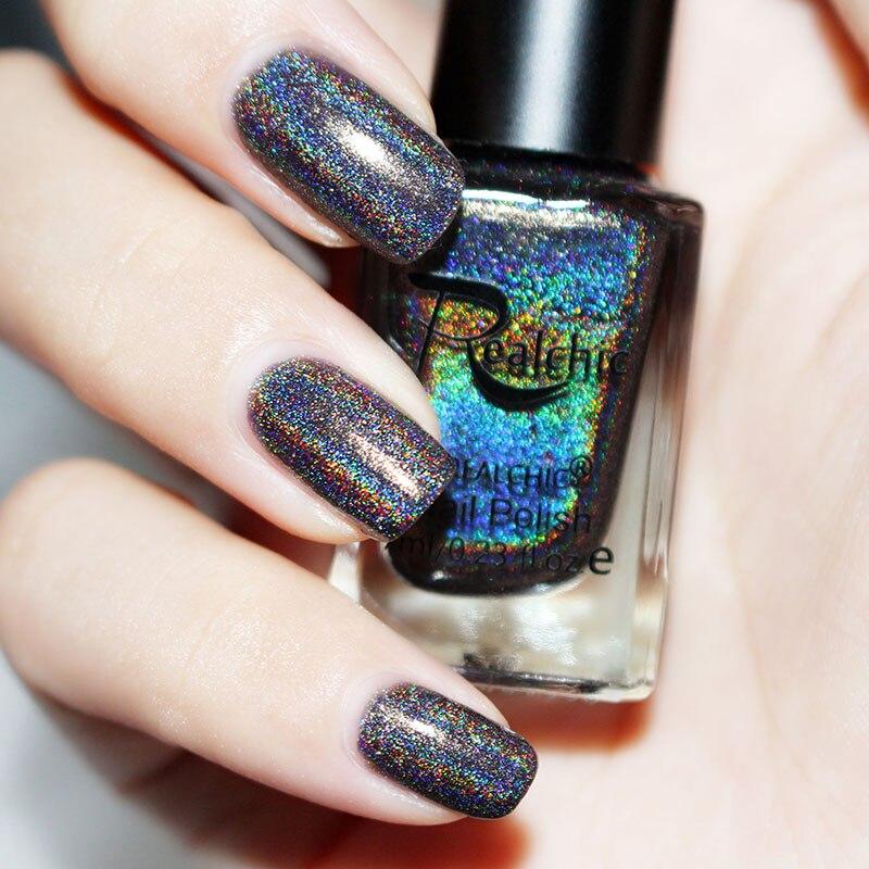 15 colors 6ML MYDANCE Holographic Holo Glitter Nail Polish Varnish ...