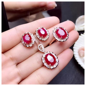 Ruby jewelry sets Classic Sun