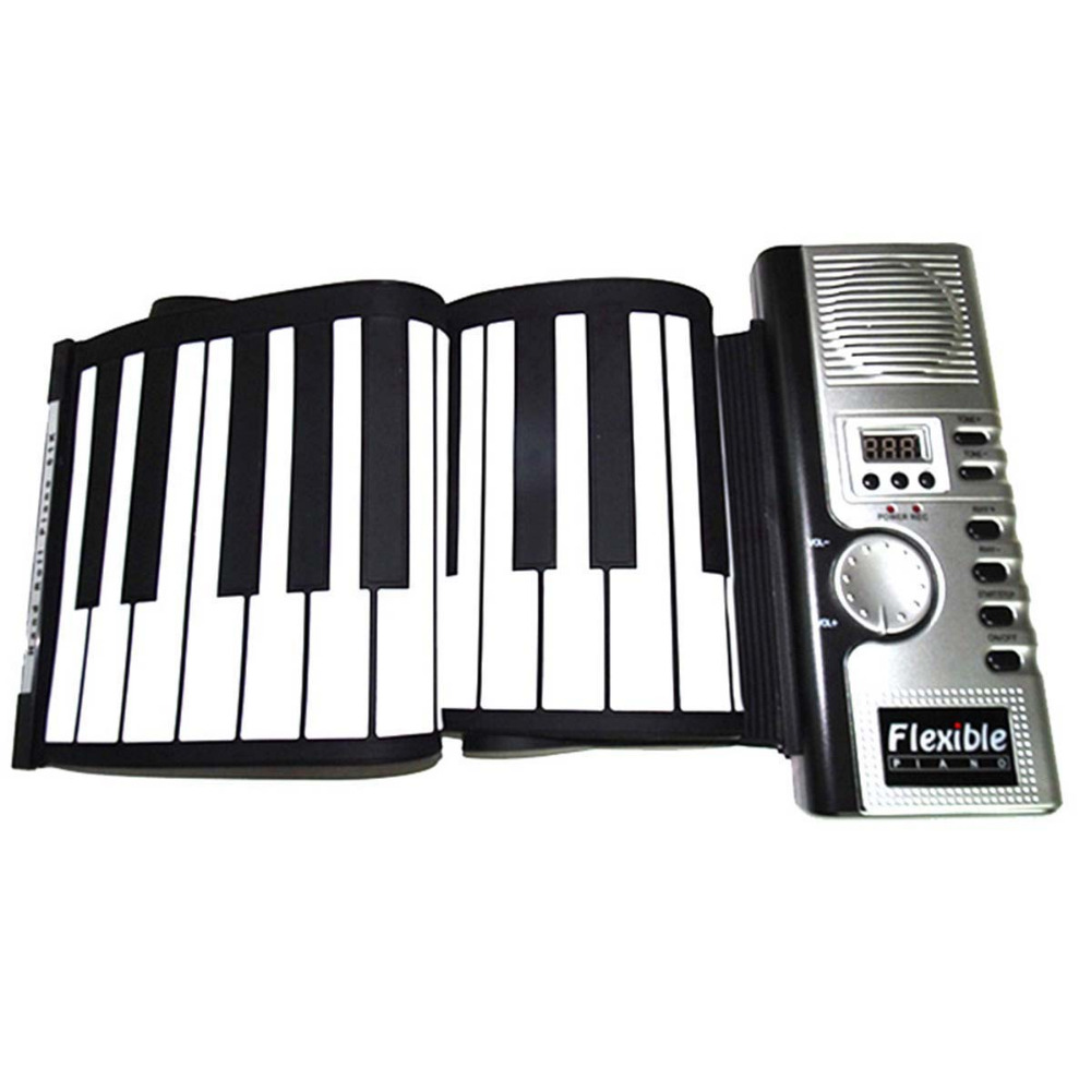 Soft Keyboard Piano Zebra Portable 61 Keys Universal Flexible Roll Up Electronic Piano For Music Instruments Lover Gift sonatas fantasies and rondos urtext edition volume i dover classical music for keyboard and piano four hands