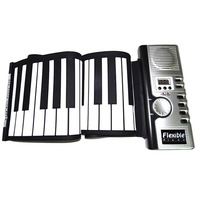 Soft Keyboard Piano Zebra Portable 61 Keys Universal Flexible Roll Up Electronic Piano For Music Instruments