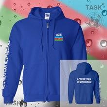 Azerbaijan Azerbaijani mens hoodies and sweatshirt casual polo sweat suit streetwear tracksuit nations fleece zipper flag AZE AZ