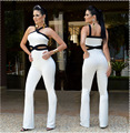 2016 горячая новинка женщин сексуальный комбинезон Clubwear Bodycon боди Bodywear широкий комбинезоны Vesitdos комбинезон ночной клуб комбинезоны