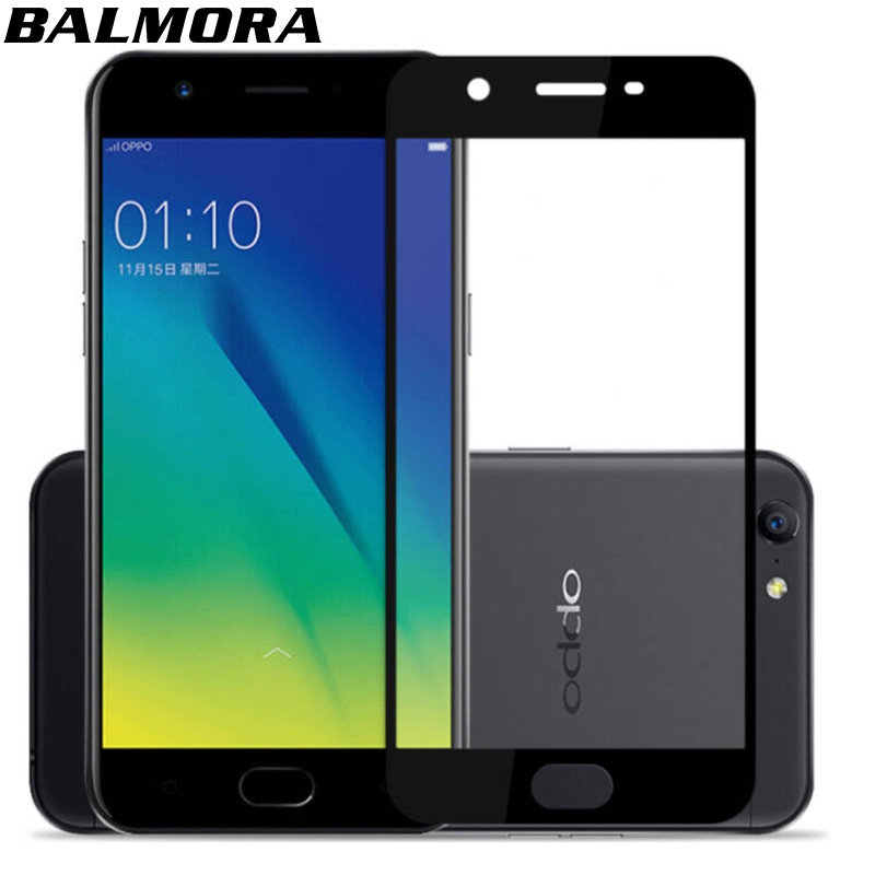 BALMORA Mobile Phone Screen Protector For Oppo A57 A37 A59 A59S Thin Full Cover Tempered Glass For Oppo A83 A73 A77 A79 2.5D 9H