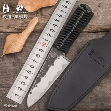 HX OUTDOORS Handmade Forging Fixed Blade Outdoor Knife Composite Steel Blade Camping Survival One Steel Knives Multi EDC Tools