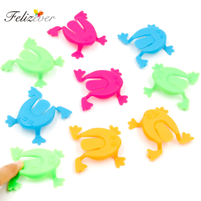 36PCS 2 Inch Jumping Frog Hoppers Game Kids Party Favor Birthday Party Toys for Girl Boy Goody Bag Pinata Fillers