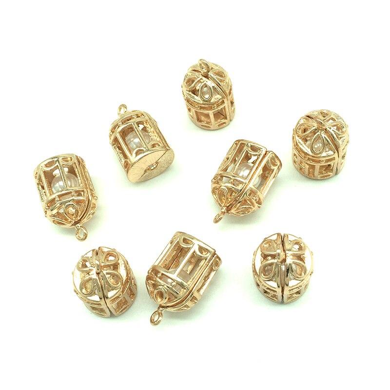 5 Stücke 3d Perle Vogel Käfig Medaillon Anhänger Charms Für Schmuck Machen Fit Armband Halskette Ohrringe Diy Handwerk Zubehör Z340 100% Original