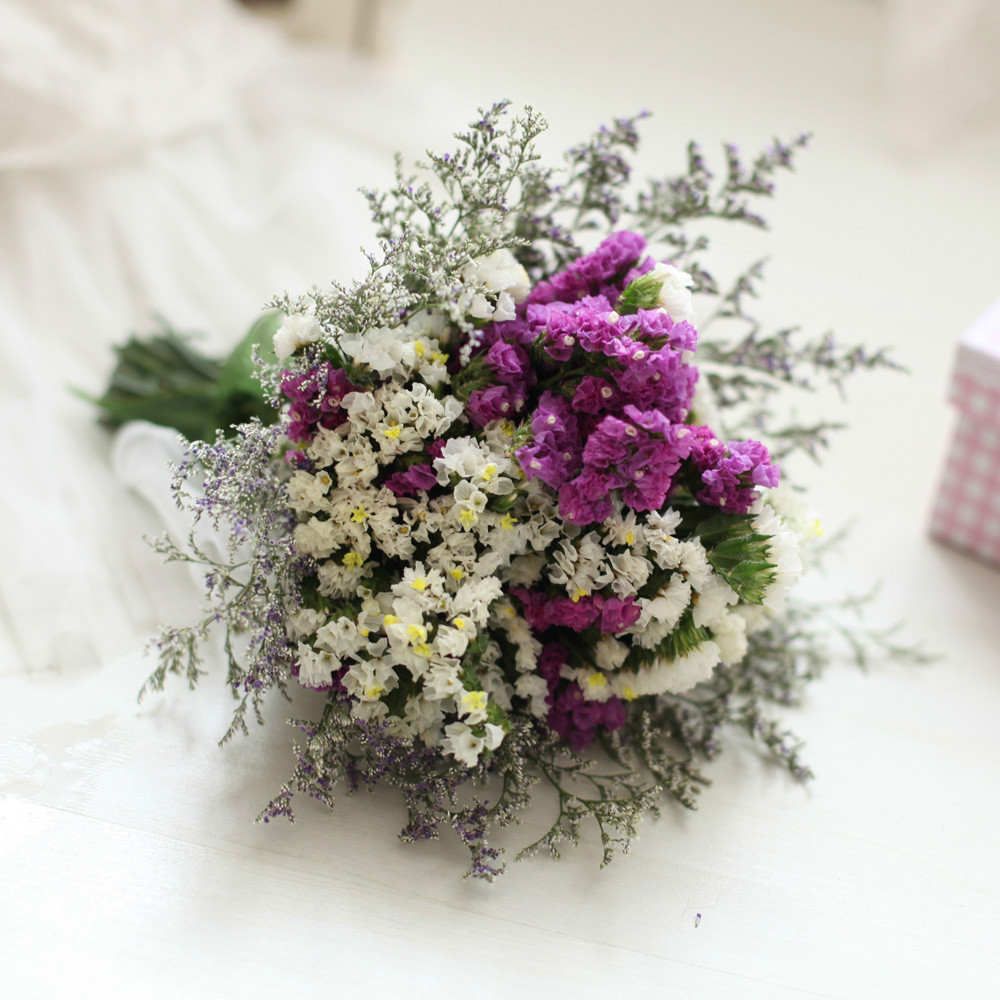 Wholesale imported natural dried flower purple forget me not imported natural dried flower purple forget me not preserved flower wedding gift home decoration in artificial dried flowers from home garden on izmirmasajfo
