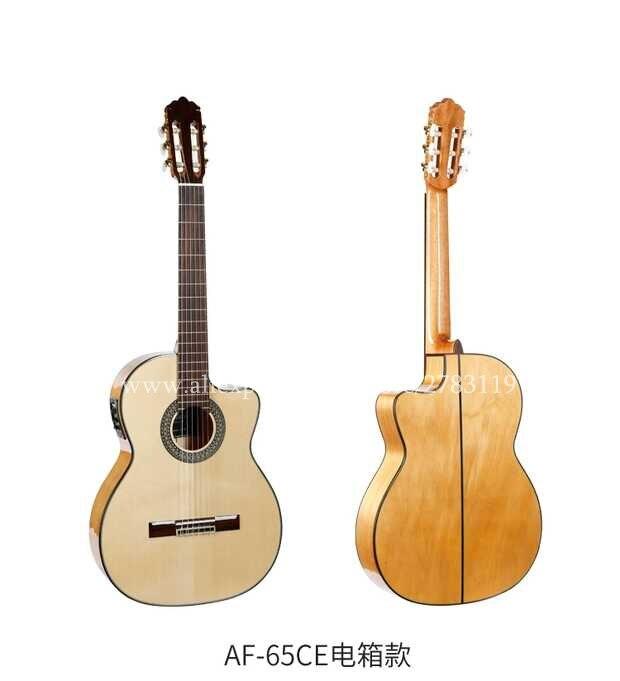 2018 neue ankunft Flaggschiff Handgemachte 39 Elektrische Akustische Flamenco gitarre Mit Solid Fichte/Aguadze Körper, Elektrische Klassische gitarre