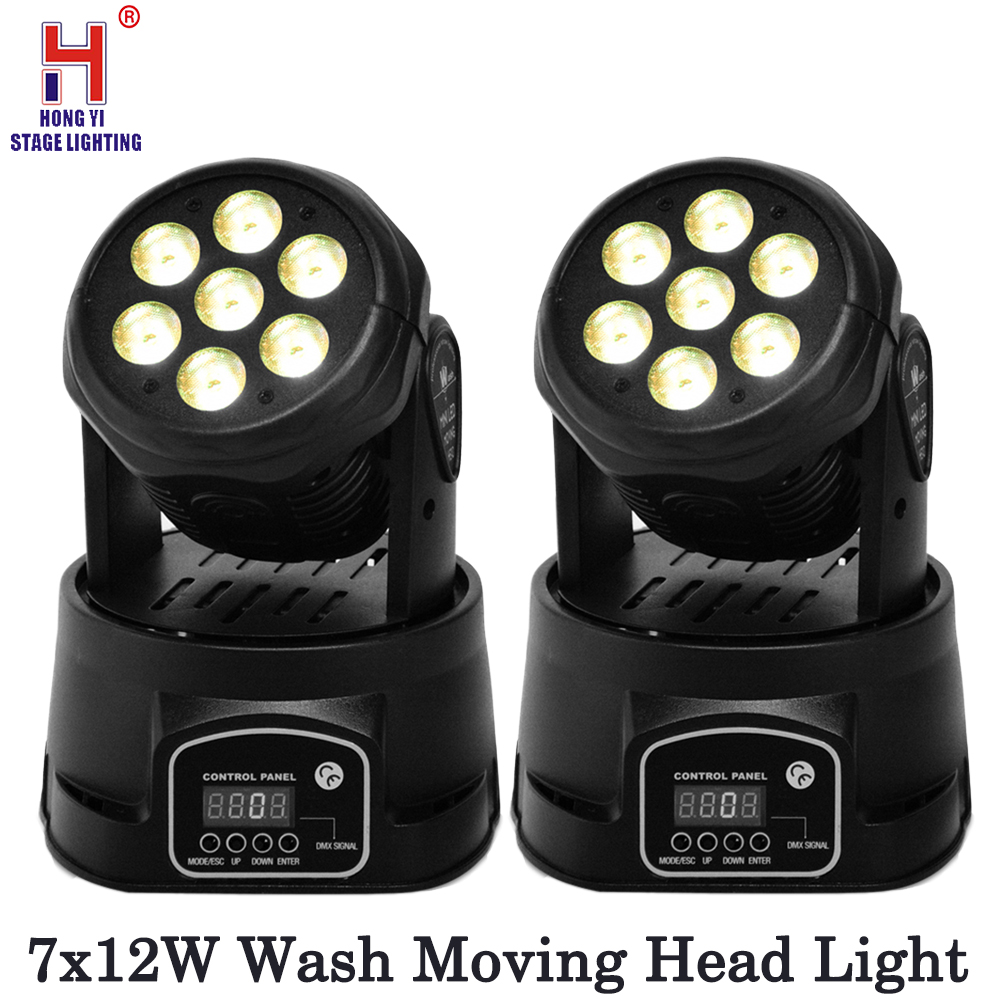 DJ Lights 7x12W Moving Head Lights Stage Lighting Sound Activated Spotlight RGBW color mixed for Party Disco Dj 2pcs/lotDJ Lights 7x12W Moving Head Lights Stage Lighting Sound Activated Spotlight RGBW color mixed for Party Disco Dj 2pcs/lot