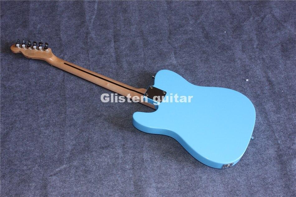 Nouveauté guitare électrique bleue, livraison gratuite - 4
