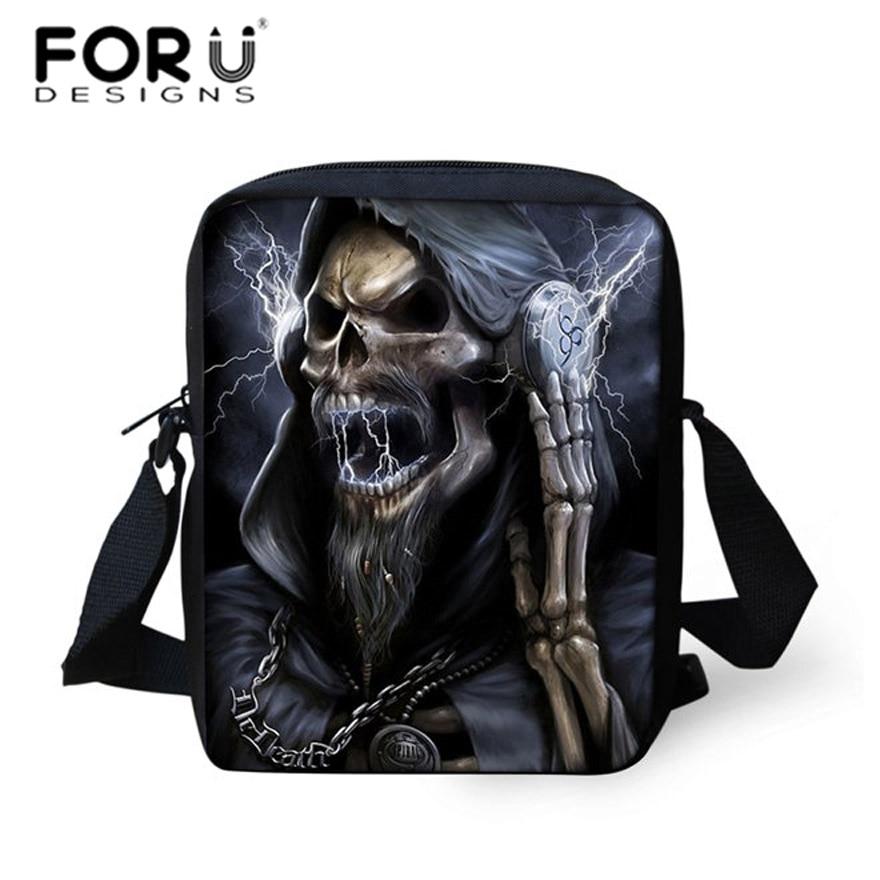 pequenas ombro viagem bolsa Tipo de Estampa : Skull