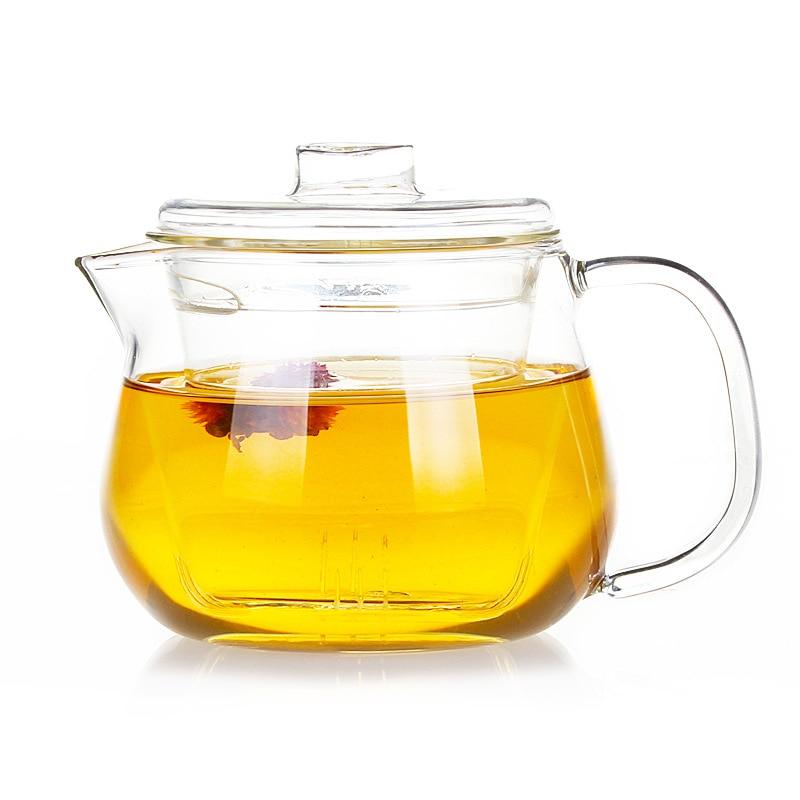 500ml borosilicate <font><b>glass</b></font> teapot kung fu flower tea coffee kettle with infuser Wedding Gift Heat Resistant