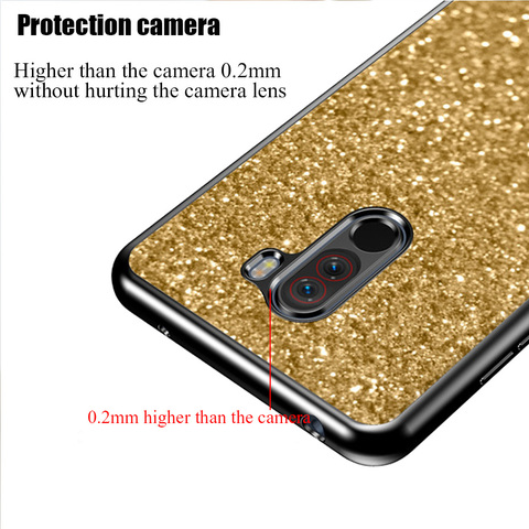 Case for Xiaomi Redmi 6A 5A 4A 4X Note 4 4x S2 cover case for xiaomi redmi 5 Plus Pocophone F1 Mi 8 Lite Glitter Phone cases Islamabad