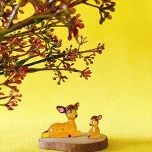 little deer/miniatures/lovely cute/fairy garden gnome/moss terrarium decor/crafts/bonsai/diy doll house/figurine Q19