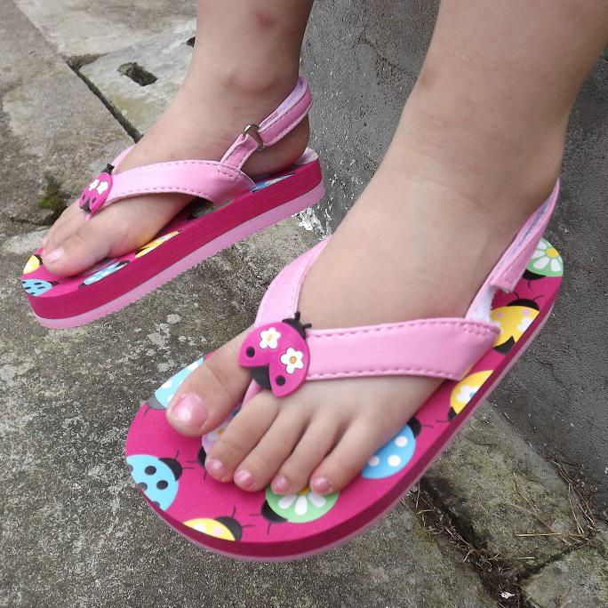 655c564eb609 Lovely ladybird kids sandals girls flip flop casual kids beach shoes  princess girls sandals fashion children shoes girls shoes -in Sandals from  Mother ...