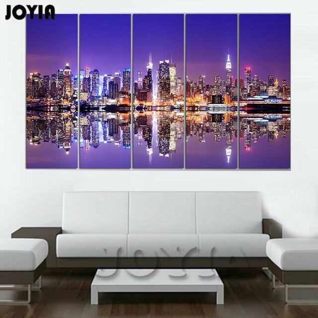 Home decoration new york canvas wall art set cityscape canvas print city skyline wall decor paintings