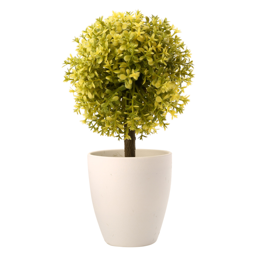 1pc Artificial Topiary Tree Potted Ball Plants Garden Outdoor Bonsai ...