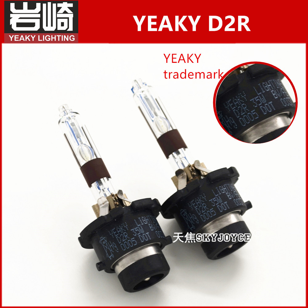 2pcs YEAKY D2R xenon hid bulb 5500K 35W yeaky lighting D2R car headlight kit replacement original xenon d2r 85126 with original box 1pcs d2r oem original hid d2r xenon bulb for cars 4300k 5500k warm white cold white