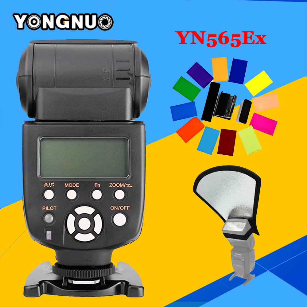YONGNUO YN565EX TTL Flash Speedlite For Nikon d7100 d7000 DSLR Cameras YN565-EX N ITTL I-TTL Flash Speedlite & Color Gel Filter