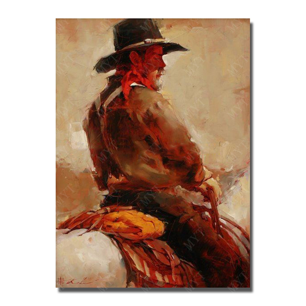 The Man Painting on Canvas Hand Painted Oil Painting Modern Living Room Decoration Painting Wall Design