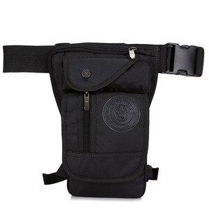 Image 1 - Mens Waterproof Nylon Drop Leg Bag Fanny Pack Waist Belt Thigh Hip Bum Military Motorcycle Riding Black Pouch Pack Packet Bag