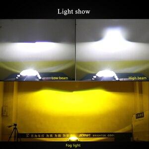 Image 5 - Sanvi 2pcs D2H 5500K 3000K bianco giallo doppio colore LED lampadina del faro con obiettivo HD Bi LED lente Hella per fendinebbia LED