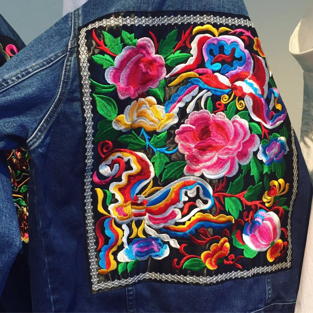Blue Totem Embroidered Square Patch Ethnic Clothing Stage Costumes ... d338e15e0f91