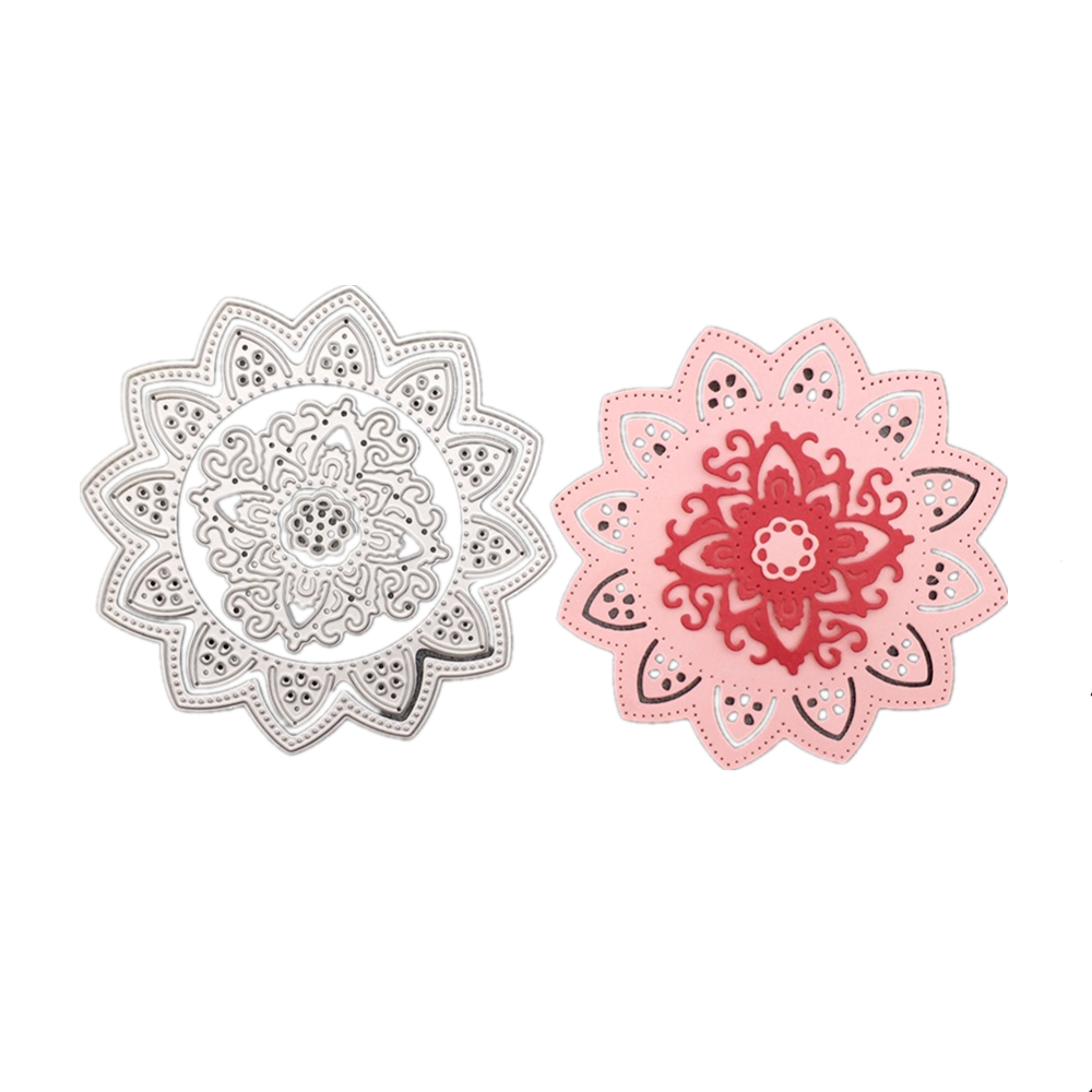 New Lotus Flower Design Festival Metal Embossing Cutting Dies