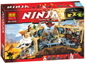 10530 06039  Ninjagoes Caos 70596 Building Blocks Ninja Minifiguras Samurai X Cueva Figura Juguetes Para Los Ninos