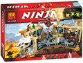 10530 06039 Ninjagoes Caos 70596 Minifiguras Building Blocks Ninja Samurai X Cueva Figura Juguetes Para Los Ninos