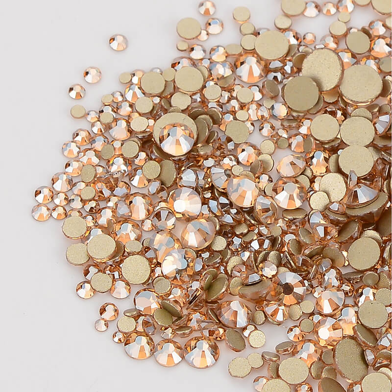 Image 4 - Mix Size Champagne Effects Flat Back Rhinestones For Nail Arts and Crafts-in Rhinestones from Home & Garden