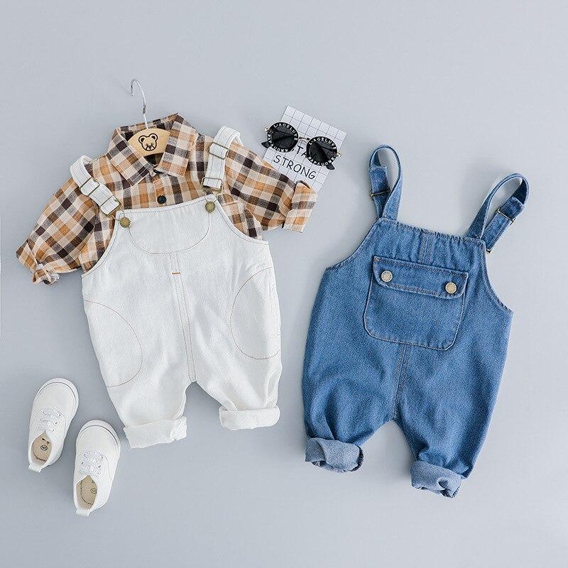 2019 Uus kevadeliste poiste / tüdrukute rõivad seab moe pldid särk - Lasterõivad