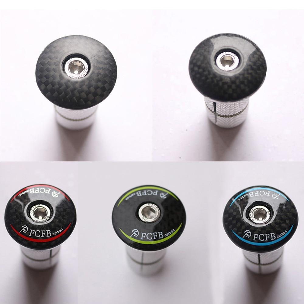 Bike Carbon Fiber Headset Stem Top Cap Key Expander 28.6mm 1 1/8 Steerer Plug For Road MTB Bike Carbon <font><b>Fork</b></font> Bicycle Accessories